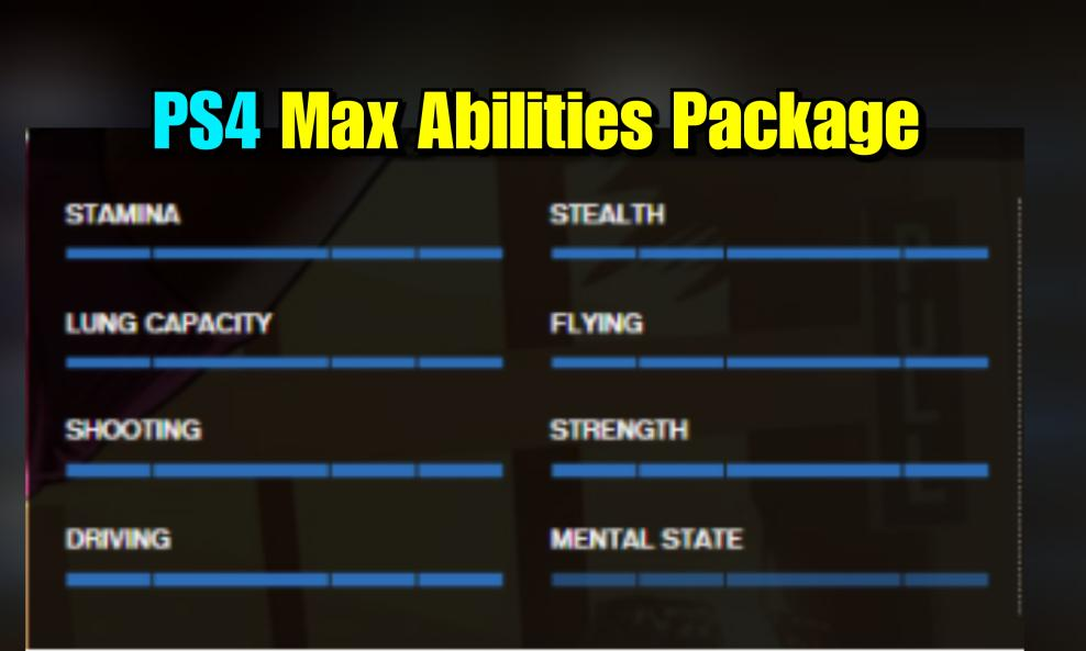 $50 - PS4/PS5 Max Abilities Package (Applied to Your Account) cover