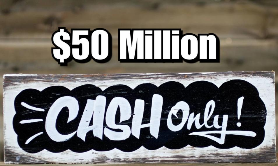 $15 - PC 50 Million Cash (Applied to Your Account) cover