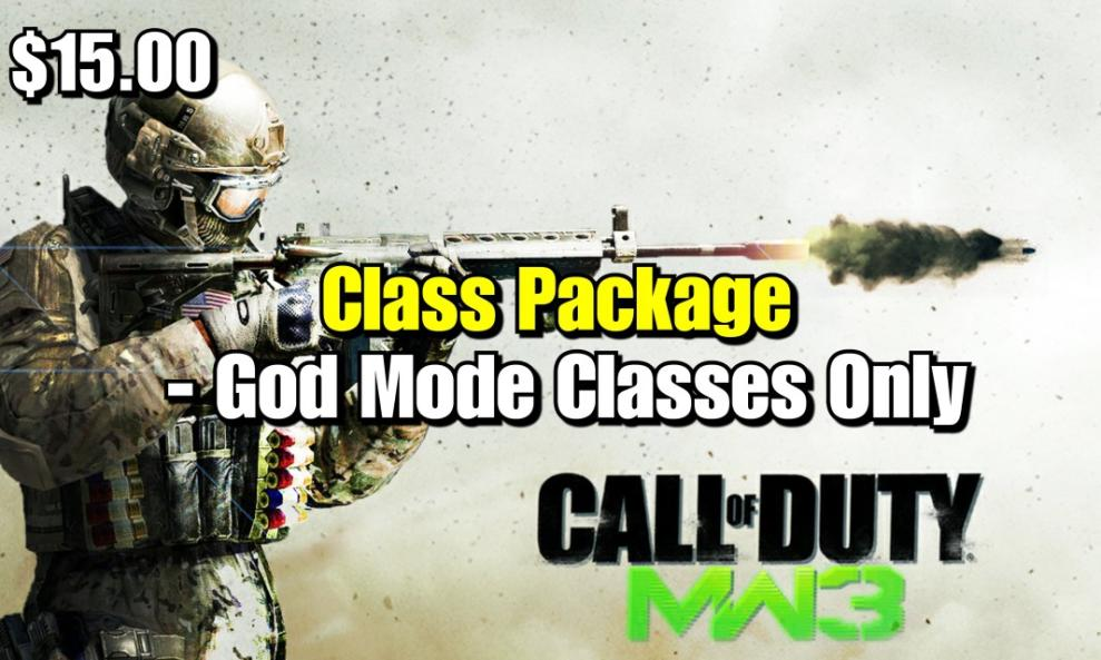 $15 - MW3 God Class Package (God Mode Classes Only) cover