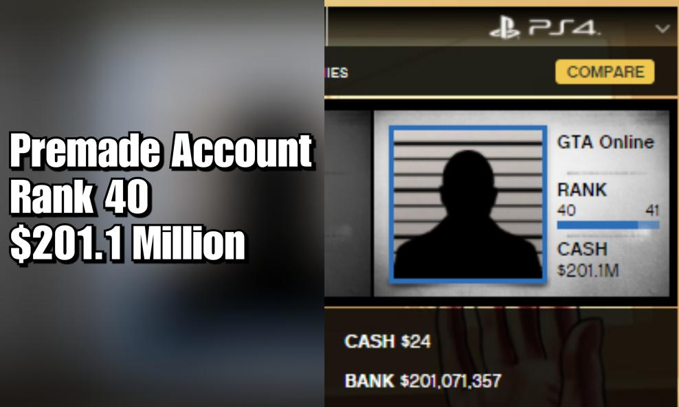 $175 - PS4/PS5 Premade Account - Rank 40 + 201 Million cover