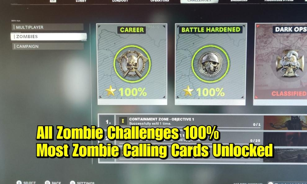 $120 - Zombies - All Challenges 100% Package cover