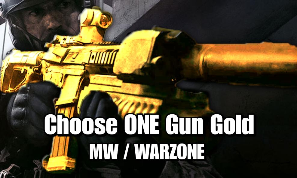 $40 MW/Warzone Gold Camo One Gun Package - (Choose ONE Gun) cover