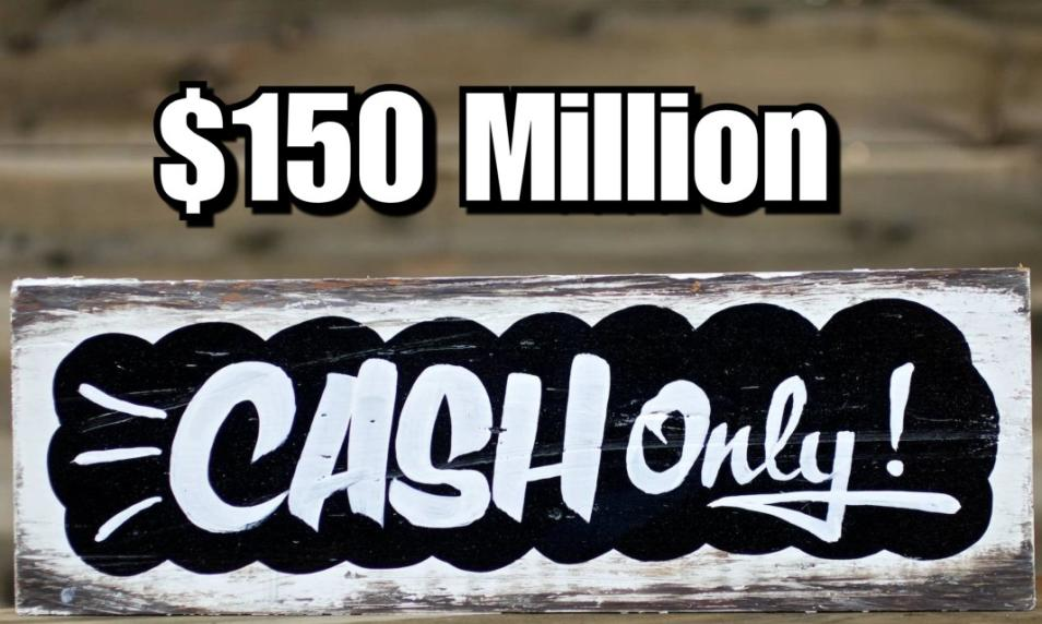 $30 - PC 150 Million Cash (Applied to Your Account) cover