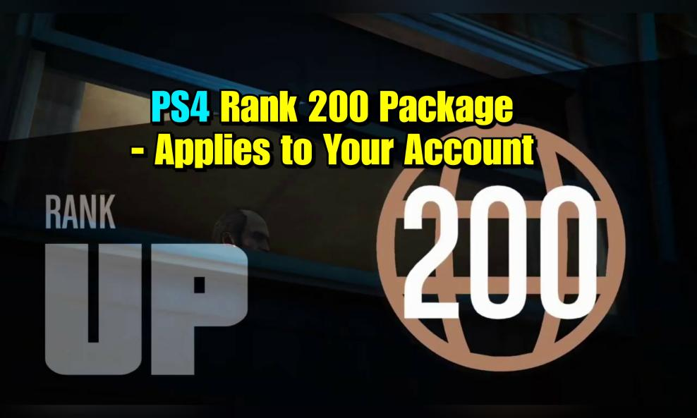 $120 - PS4/PS5 - Rank 200 Rank Only (Applied to Your Account) cover
