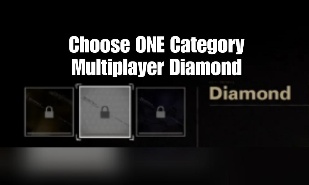 $75 - Multiplayer Diamond Camo Package (Choose ONE Category) cover